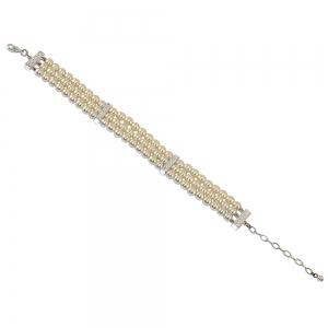 3 Row Graduated Pearl Bracelet