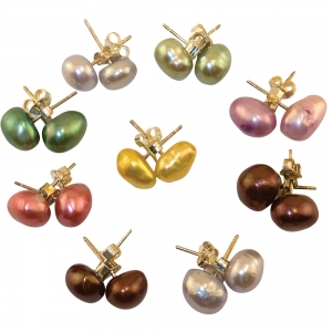 9 flat pearl & silver ring- any size