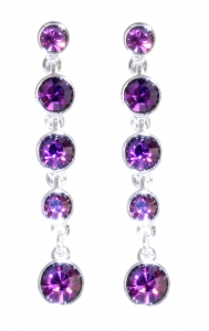 Amethyst Crystal Fringe Tiara Earrings