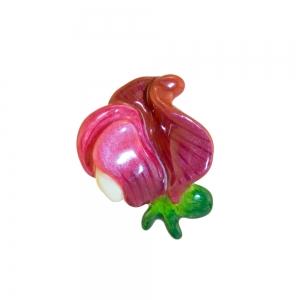 April Sweet Peas Small Brooch Pin