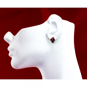 April Sweet Peas Small Clip-on Earrings