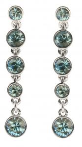 Aqua Blue Crystal Fringe Tiara Earrings