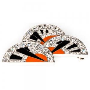 Art Deco Fan-shaped brooch