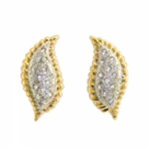 Ava Gardner Leaf & Rope earrings