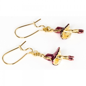 Ballerina Charm Earring  - Gold Plated