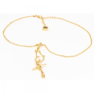 Ballerina Releve Arms 5th Pendant - Gold Plated