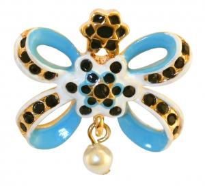 Blue Bow Pin Badge