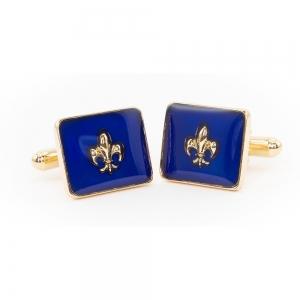 Blue Enamelled Fleur Cufflinks