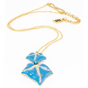 Blue Ivy Leaf Pendant