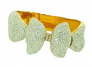 Bow Clear Crystal Bangle