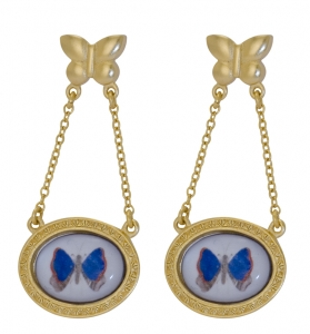 Butterfly Art Earrings
