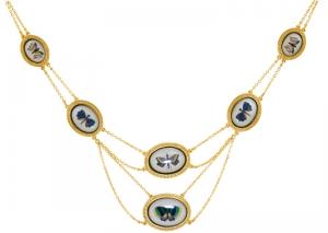 Butterfly Art Necklace