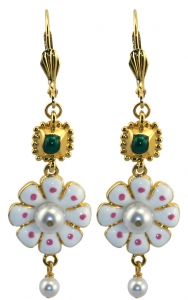 Butterfly Flower Enamel Earrings