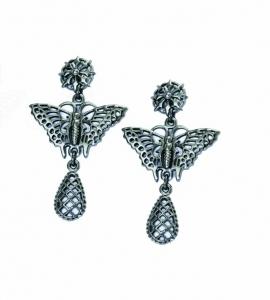 Butterfly Single Droplet Earrings