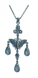 Butterfly three-droplet pendant