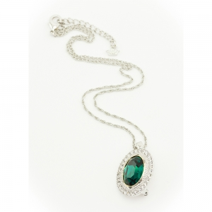 Catherine the Great Emerald Crystal Pendant