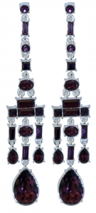 Chandelier Earrings Amethyst