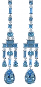 Chandelier Earrings Aqua