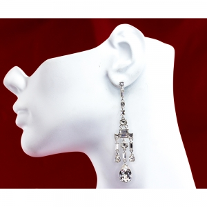 Chandelier Stud Earrings Crystal
