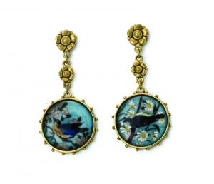 Circular Bird Earrings