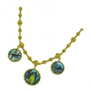 Circular Bird Necklace