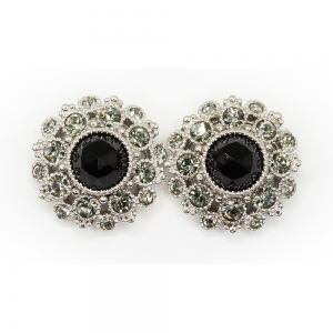 Crystal Button Earrings