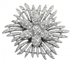 Crystal Flower Star Brooch