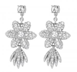 Crystal Flower Star Earrings