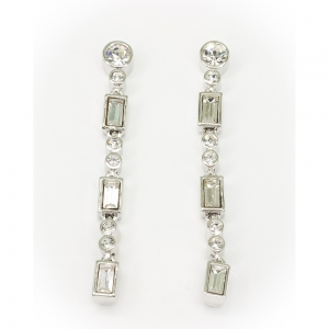 Crystal Fringe Tiara Earrings