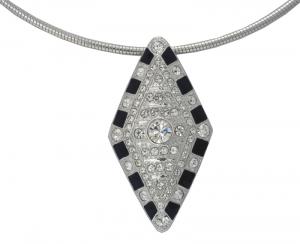 Crystal Lozenge necklace & brooch
