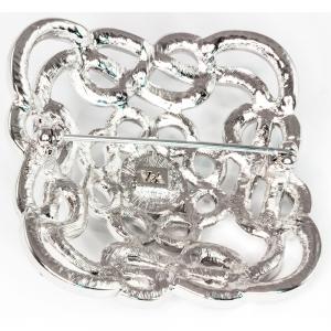 Crystal Shoe Buckle Brooch