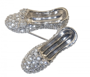 Crystal Slippers Brooch