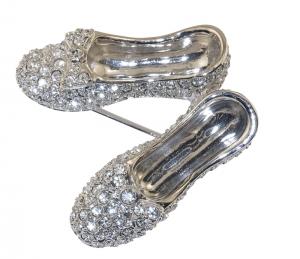 Crystal Slippers Brooch