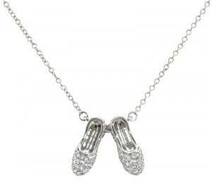 Crystal Slippers Necklace