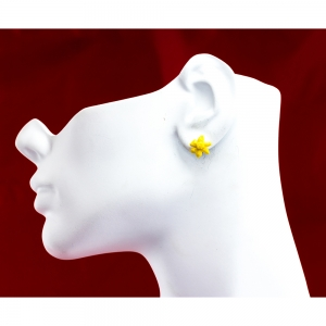 March Daffodil Small Post Earrings