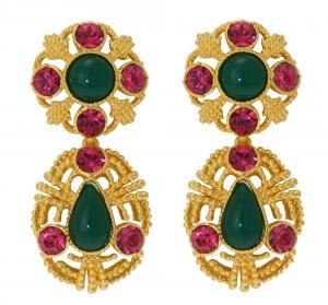 Duo-drop Earrings