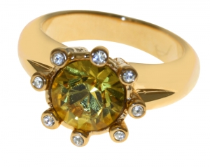 Eight-Star Citrine Crystal Ring