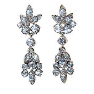 Elizabeth Taylor Crystal Flower Earrings