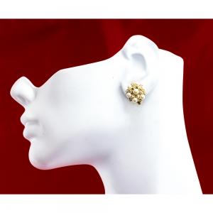 Elizabethan Faux Pearl Clip On Earrings
