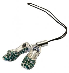 Emerald Slippers Phone Charm
