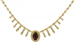 Empress Josephine of France Amethyst Crystal Necklace