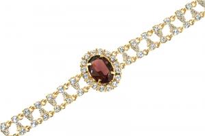 Empress Josephine of France Ruby Amethyst Crystal Bracelet