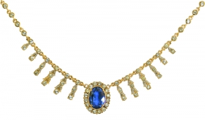 Empress Josephine of France Sapphire Crystal Necklace