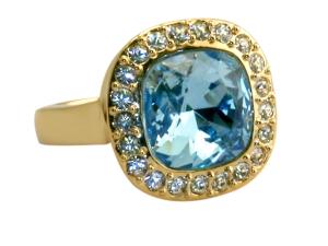 English Blue Crystal Ring
