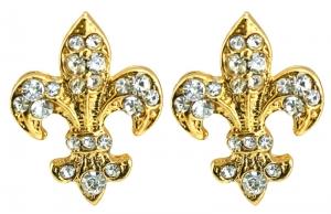 Fleur de Lys Single Stud Earrings