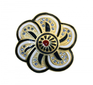 Floral Inspiration Brooch White
