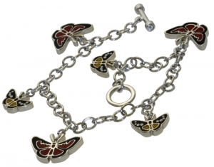 Flying Beauties Charm Bracelet