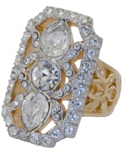 French Crystal Classic Ring