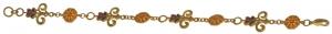 Gold-plated butterfly bracelet