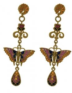 Gold-plated butterfly earrings
